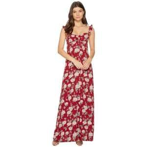 New Flynn Skye Carla Maxi Dress in Red Roses